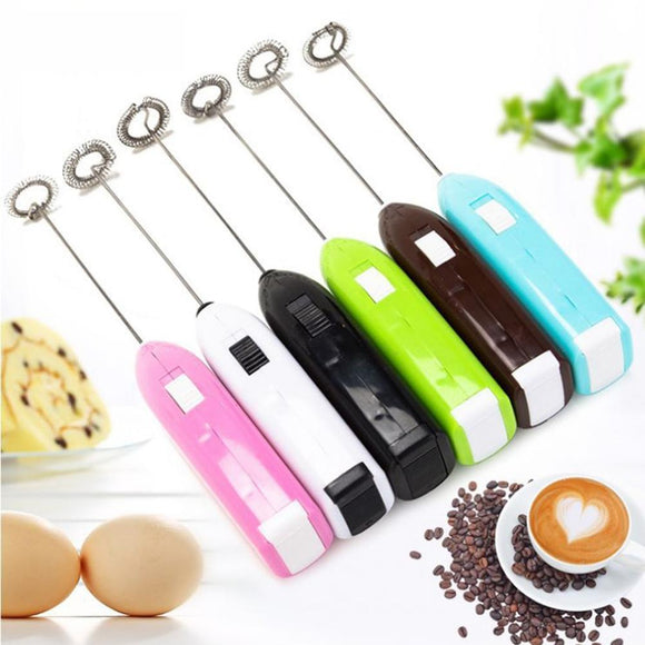 Tryot 1PC Milk Drink Coffee Whisk Mixer Electric Egg Beater Frother Foamer Mini Handle Stirrer Practical Kitchen Cooking Tool