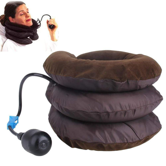 Tryot 1pcs Air Cervical Soft Neck Brace Device Headache Back Shoulder Pain Cervical Traction Device Comfortable Neck Massage Relaxation