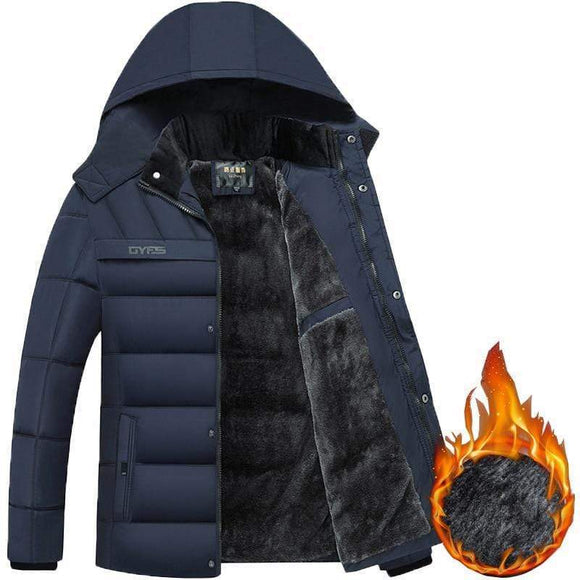 Tryot 2019 Hot Fashion Hooded Winter Coat Men Thick Warm Mens Winter Jacket Windproof Father's Gift Parka