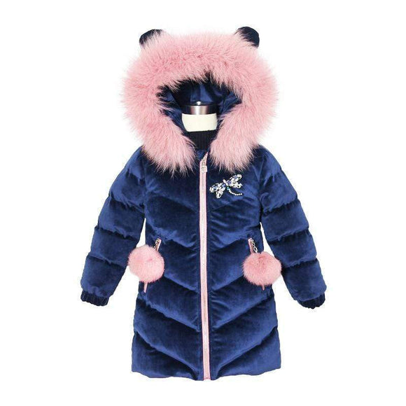 Tryot 2019 New Children's Clothing Winter Jacket For Girls Thicken Girls Winter Coat Hooded Velour Winter Girls Jackets Outwear 3-12T