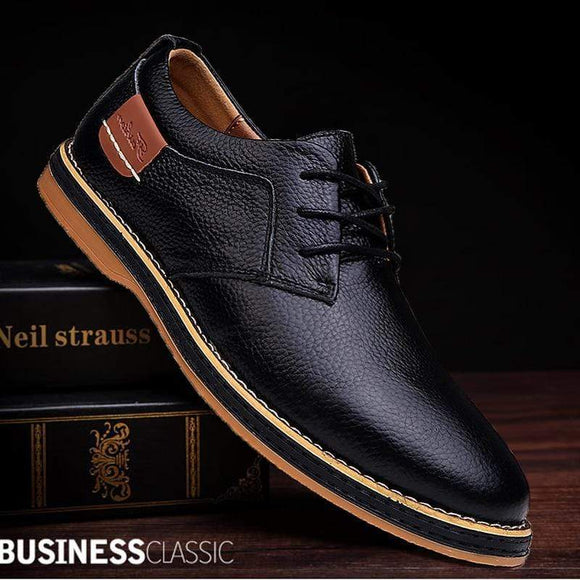 Tryot 2019 New Men Oxford Genuine Leather Dress Shoes Brogue Lace Up Flats Male Casual Shoes Footwear Loafers Men Big Size 39-45