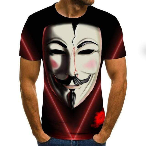 Tryot 2020 hot-sale Clown 3D Printed T Shirt Men Joker Face Male tshirt 3d Clown Short Sleeve Funny T Shirts Tops & Tees XXS-6XL
