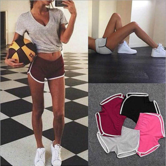 Tryot 2020 Summer Stretch Waist Candy Color Slim Sport Shorts