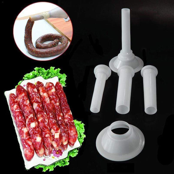 Tryot 3pcs/set Meat Grinder Sausage Stuffer Filling Tubes Sausage Maker Tubes DIY Sausage Maker Funnels Nozzles Kitchen Meat Tools 40P