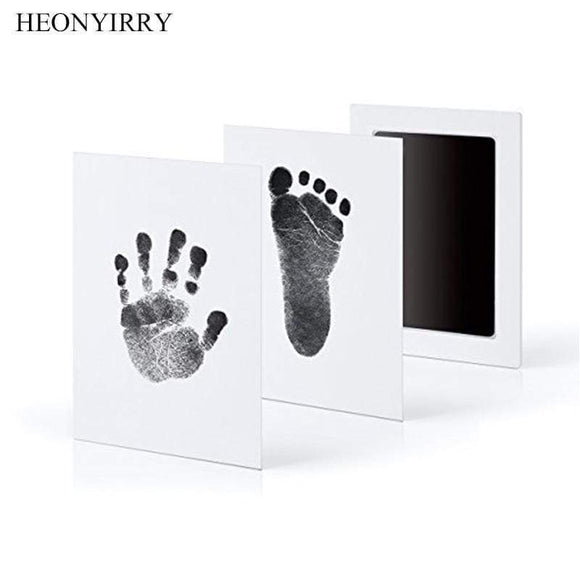 Tryot Baby Care Non-Toxic Baby Handprint Footprint Imprint Kit Baby Souvenirs Casting Newborn Footprint Ink Pad Infant Clay Toy Gifts