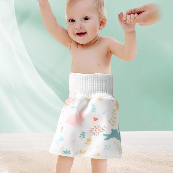 Tryot Baby Diaper Training Skirt Pure Cotton High Waist Waterproof Diaper Skirt Children Baby Cloth Diaper Urination Skirt
