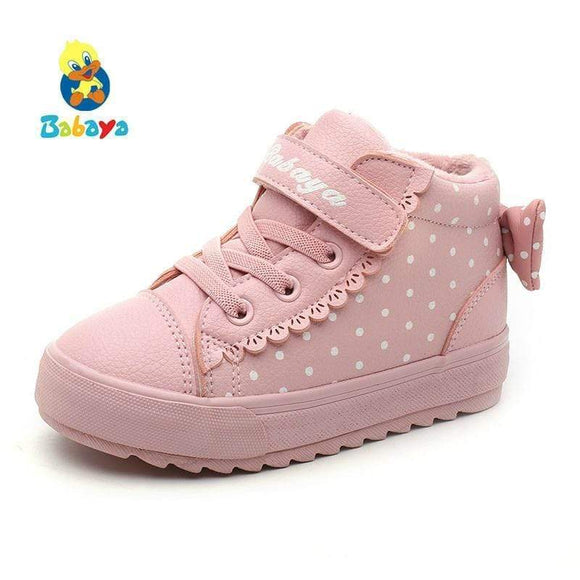 Tryot Children Shoes Girl 2018 Winter New Increase Down Thickening Casual Shoes Protect Warm Winter Snowfield Cotton Boots