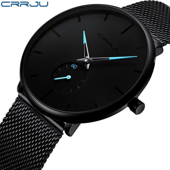 Tryot Crrju Top Brand Luxury Watches Men Stainless Steel Ultra Thin Watches Men Classic Quartz Men's Wrist Watch Relogio Masculino