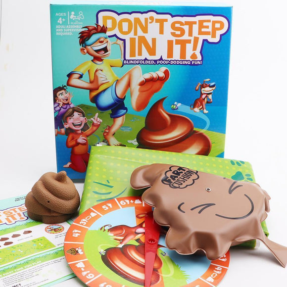 Tryot Don't Step In It Interaction Party Game Laughting Funny games game Blindfolded poop dodging fun for kids Spoof amusing children