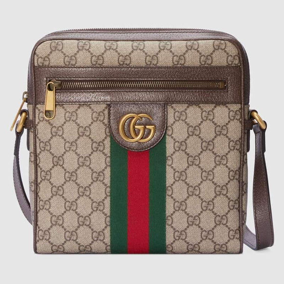 Tryot Gucci Ophidia GG Small Messenger Bag Men Messenger Shoulder Tote Back Casual Business 547926 96IWT 8745