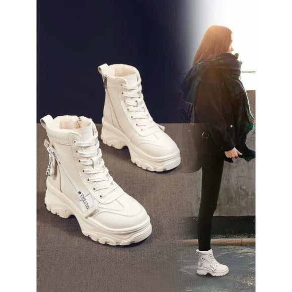 Tryot Increase Short Shoes Women Casual Boots Women Boots Knight Boots