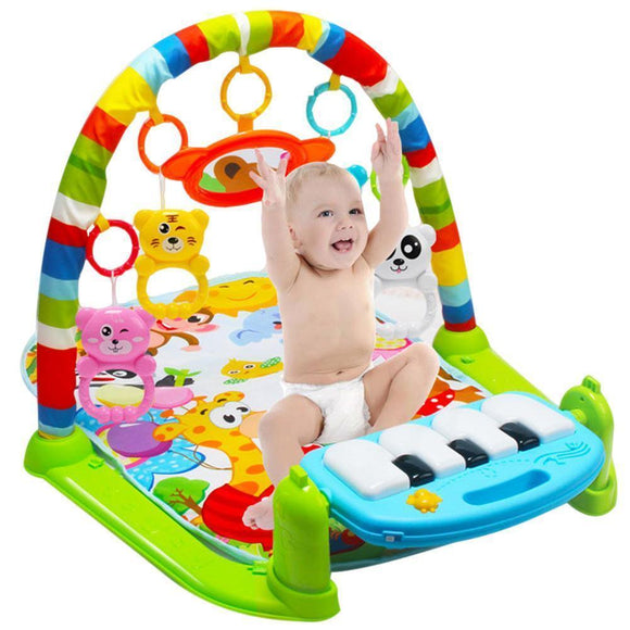 Tryot Kids Children Fitness Rack Baby Toys Piano Music Blanket Play Plastic Intellectual Development 88 AN88