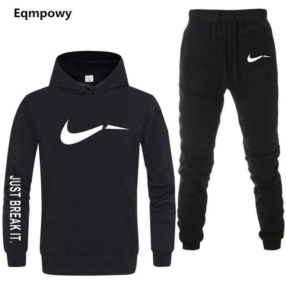 Tryot Men's Tracksuit 2 sets of new fashion jacket sportswear men's sweatpants hoodies spring and autumn men's brand hoodies pants
