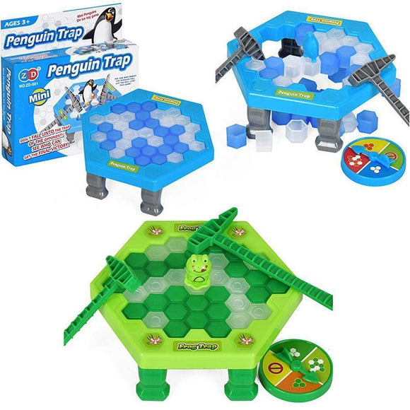 Tryot Mini Penguin Trap Board Game Ice Breaking Save The Penguin Party Game Parent-child Interactive Entertainment Table Toys Kid Gift