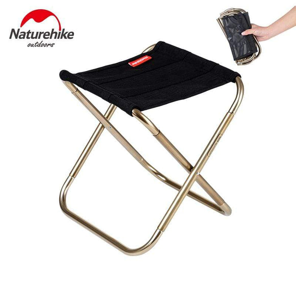 Tryot Naturehike Lightweight Outdoor Compact Portable Aluminium Alloy Folding Fishing Stool Collapsible Camping Seats Hiking Stool