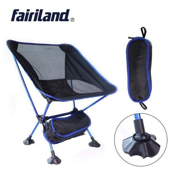 Tryot Portable Moon Chair Lightweight Fishing Camping BBQ Chairs Folding Extended Hiking Seat Garden Ultralight Office Home Furniture