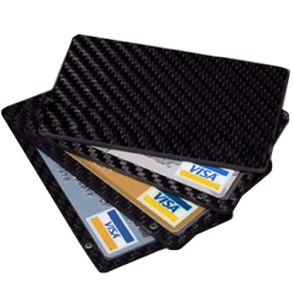 Tryot Real Carbon Fiber Magnetic Card Holder Wallet - 4 Layer