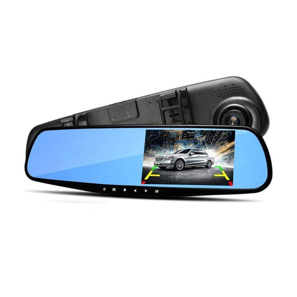 Tryot REAR VIEW MIRROR W/ DASHCAM AND BACK CAM