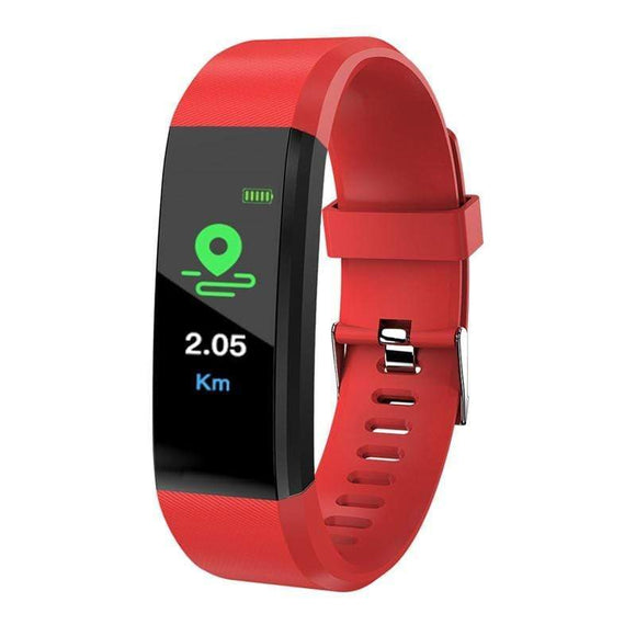 Tryot Red ID115plus Smart Bracelet Smart Band Blood Pressure Heart Rate Monitor Fitness Tracker Smart Watch IP67 Waterproof Pedometer Bluetooth Wristband