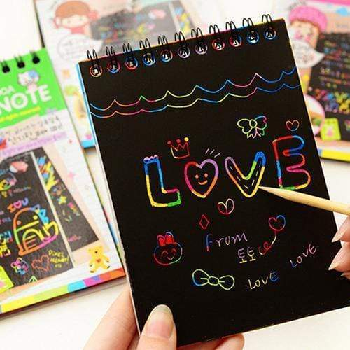 Tryot Scratch-Off Magic Rainbow Notebook