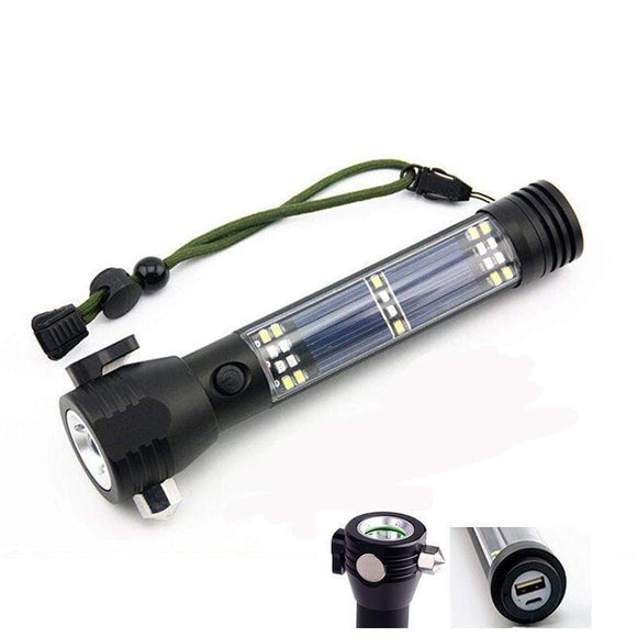 Tryot Solar Powered Multi-Function Flashlight