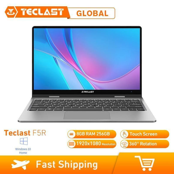 Tryot Teclast F5R Laptop 11.6 Inch Windows 10 OS Intel APOLLO LAKE N3450 Quad Core 1.1GHz CPU 8GB RAM 256GB SSD Touch Screen HDMI