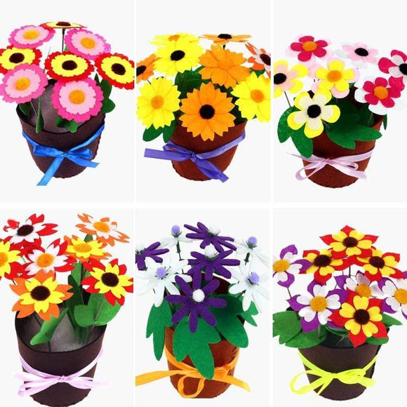 Tryot Toys for Children Crafts Kids DIY Flower Pot Potted Plant Kindergarten Learning Education Toys Montessori Teaching Aids Toy