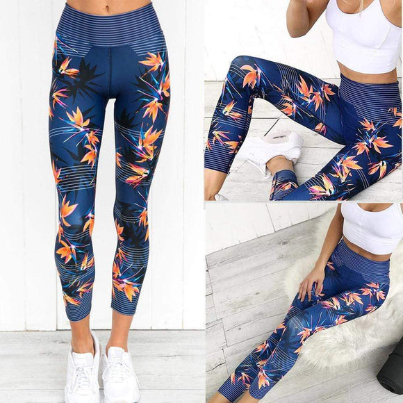 Tryot Women High Waist Sports Gym Yoga Running Fitness Leggings Pants Athletic Trouser