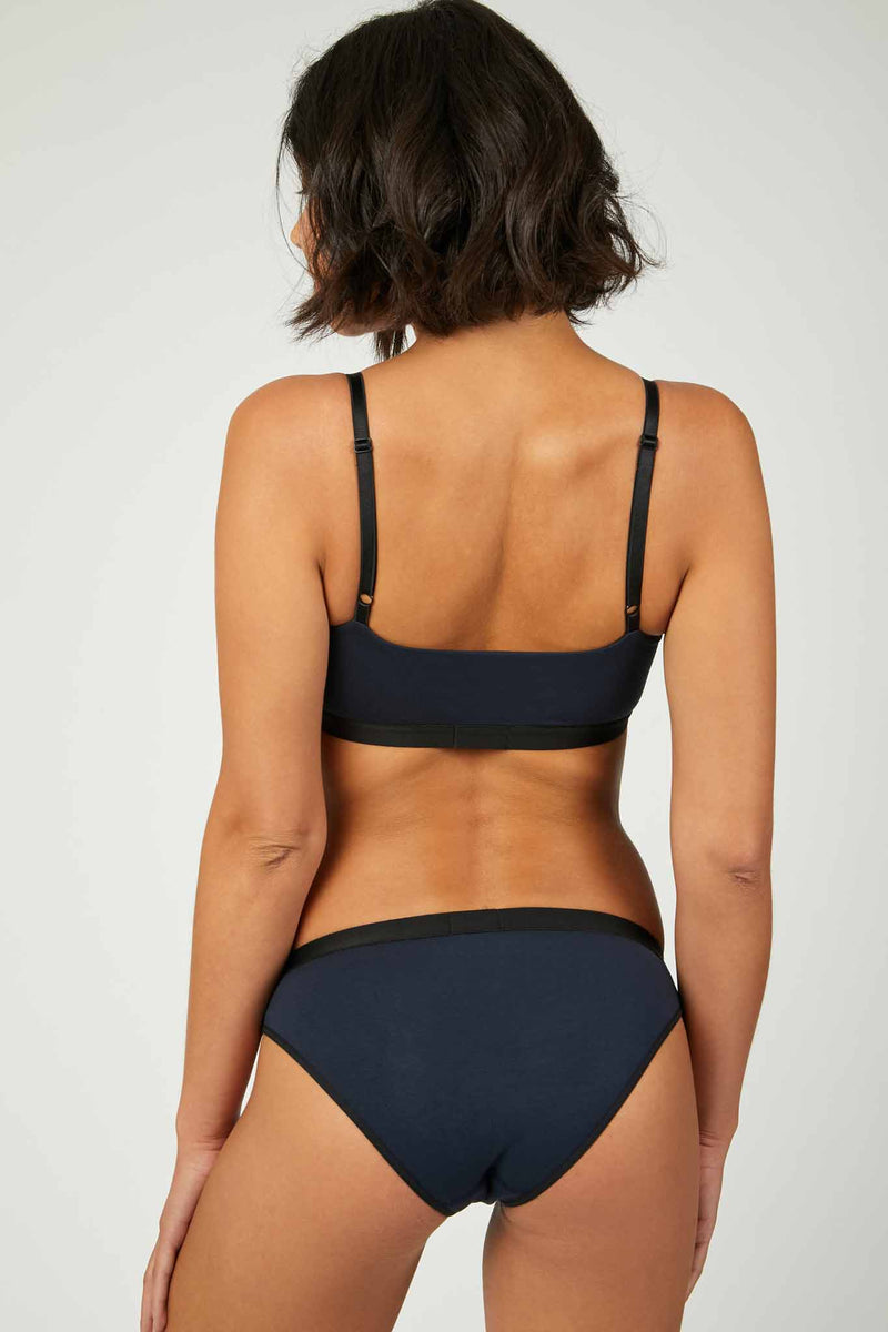 Sloanie Low Scoop Bralette Rear