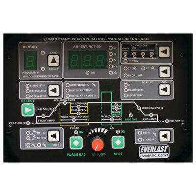PowerTIG 325EXT (3 phase) - Everlast Welders Australia