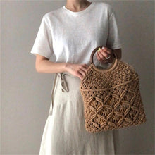 Load image into Gallery viewer, GIGI Macrame Straw Bag (Summer Exclusive)