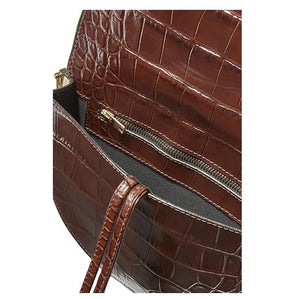 CLAUDIA Croc Crossbody Bag