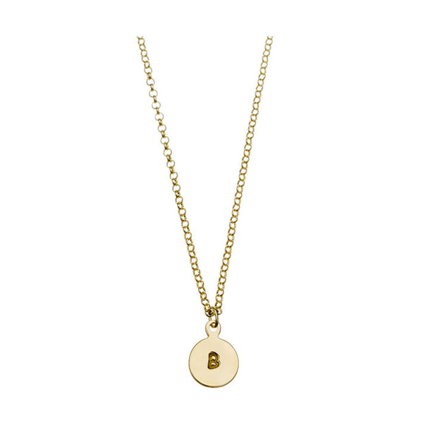 'B' DISC NECKLACE