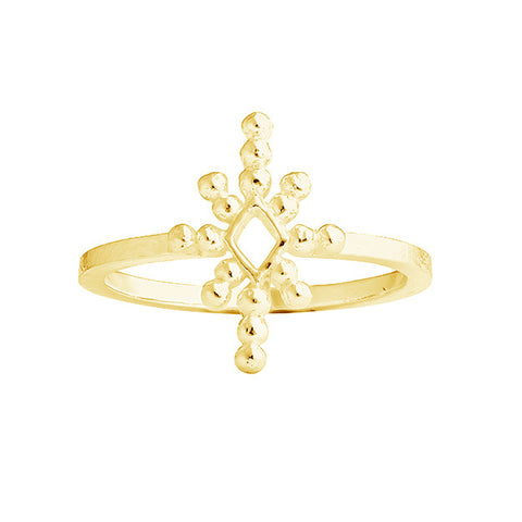 COBBLED STAR RING