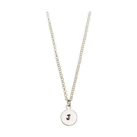 'J' DISC NECKLACE