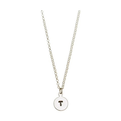'T' DISC NECKLACE