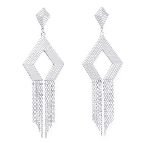 WOVEN CHAIN EARRINGS