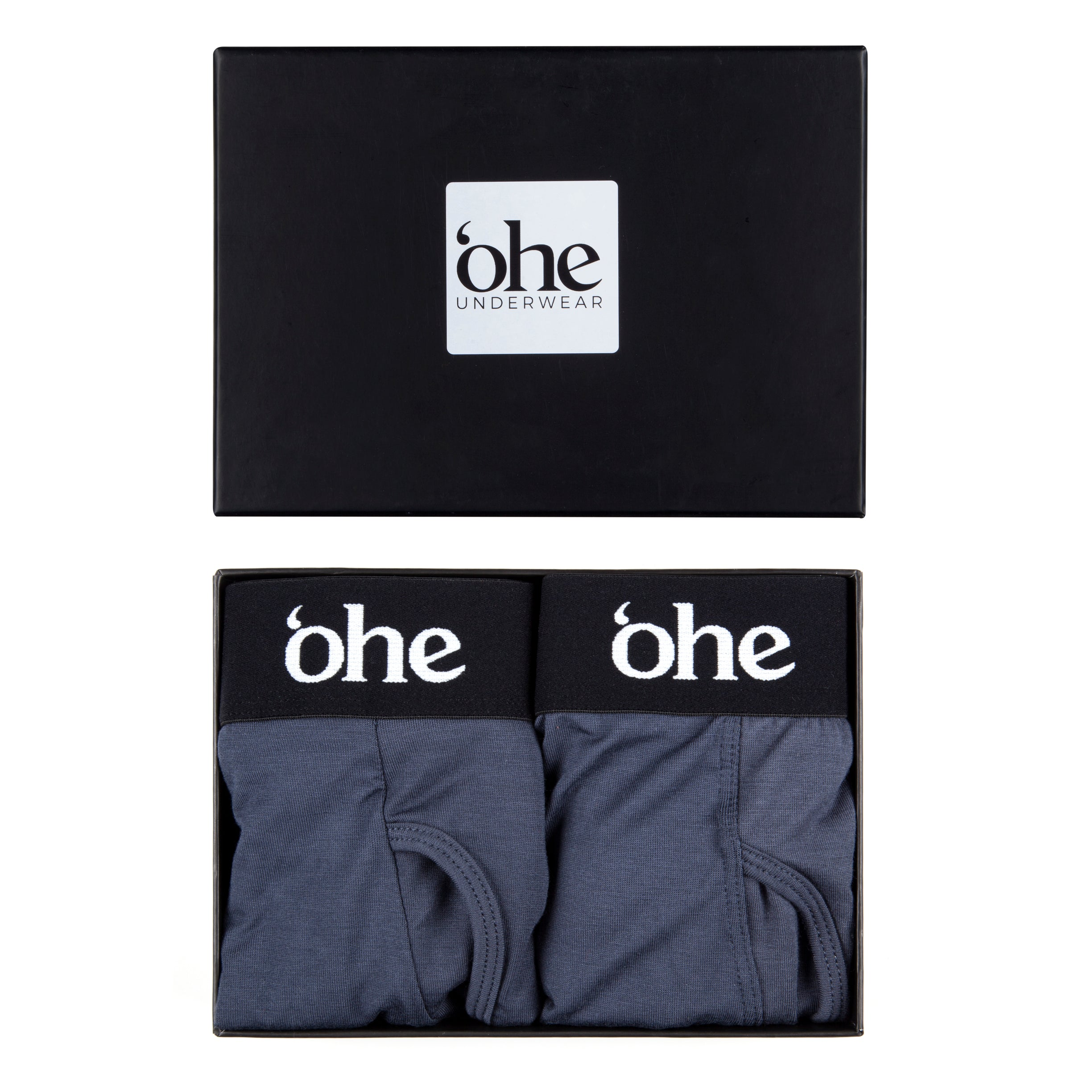 Two Pack Grey Bamboo Boxers - 'ohe underwear