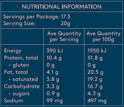 Nutritional Info For Caramel Collagen Creamer