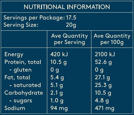 Coconut Collagen Creamer Nutritional Information
