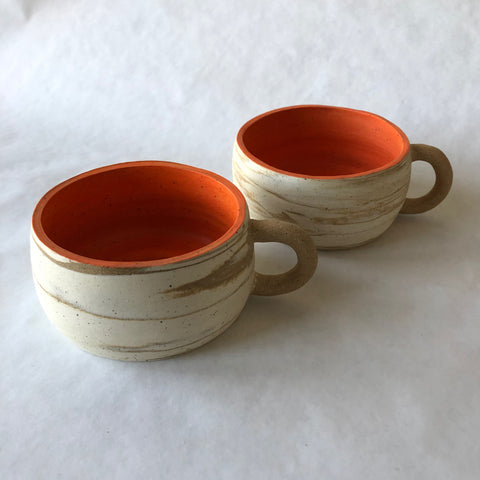 Marbled Orange Mug