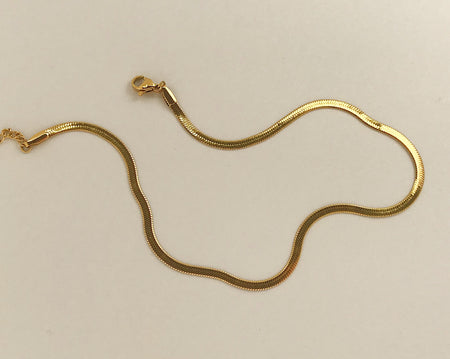 Herringbone Chain Gold
