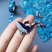 Load image into Gallery viewer, Whale Rider Enamel Pin
