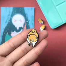 Load image into Gallery viewer, Chubby Shiba Enamel Pin