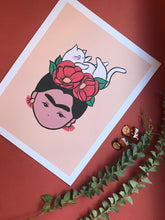 Load image into Gallery viewer, Frida Khalo (Catlo) Print