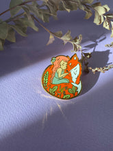 Load image into Gallery viewer, Fox and Girl Enamel Pin