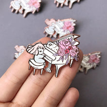 Load image into Gallery viewer, Blooming Piano Enamel Pin
