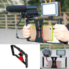 Load image into Gallery viewer, Package: Camera Cage Stabilizer with Mic and Light
