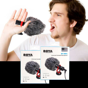 BOYA Microphone with Fuzzy Wind Protector