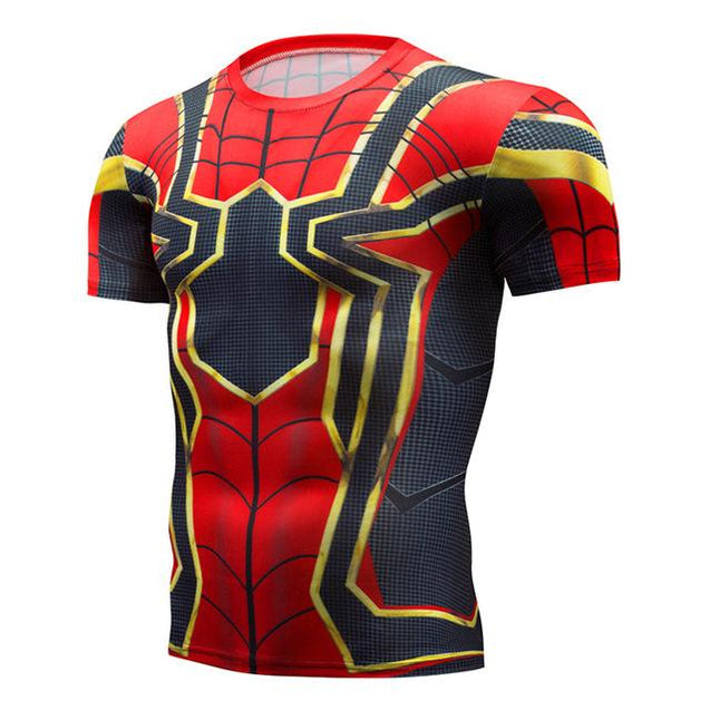 Short Sleeve Spot Men's Civil War Compression T-shirt Marvel Avengers